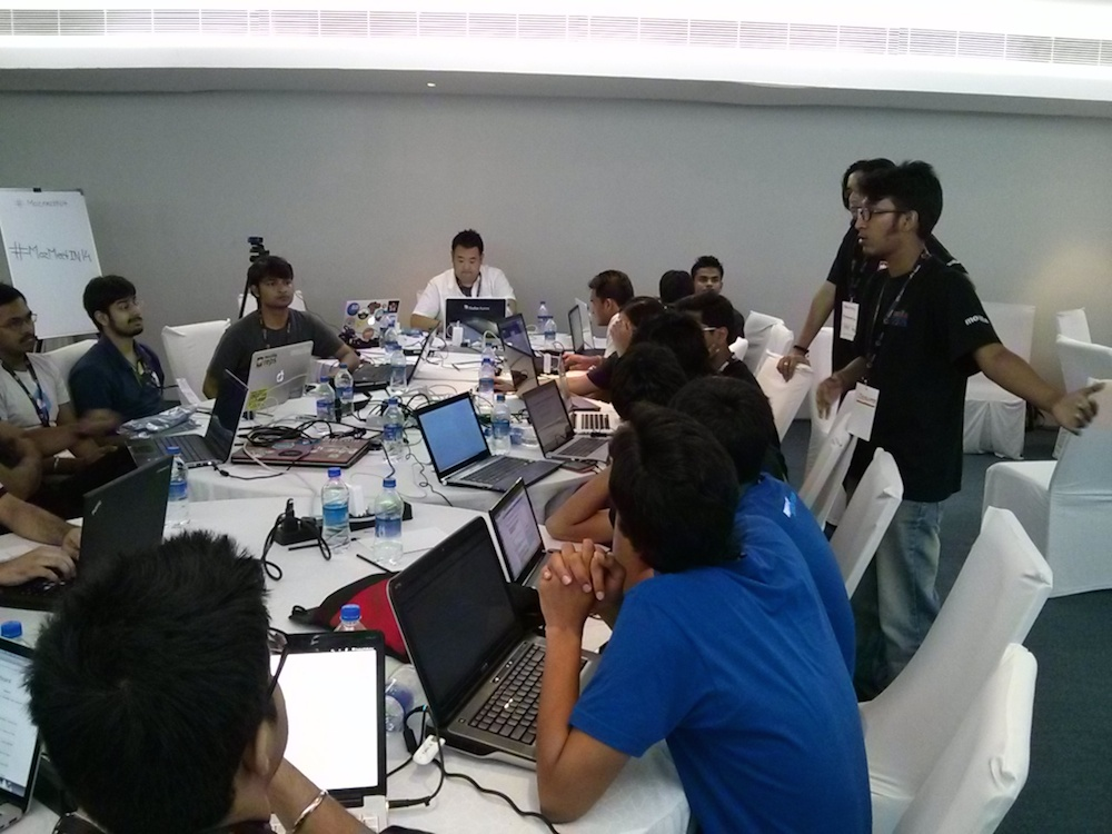 Technical Task Force in action at Community Meetup April 2014 in Hyderabad